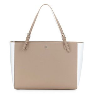 Tory Burch Large Leather York Laptop Tote Bag